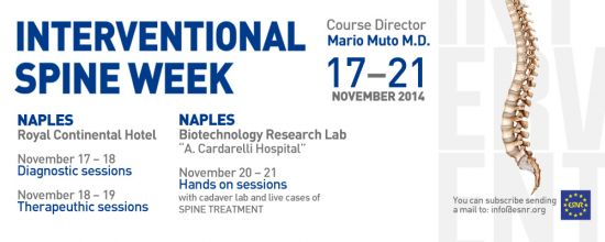 Interventional Spine Week of the ESNR