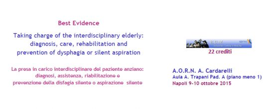 Taking charge of the interdisciplinary elderly: diagnosis, care, rehabilitation and prevention of dysphagia or silent aspiration